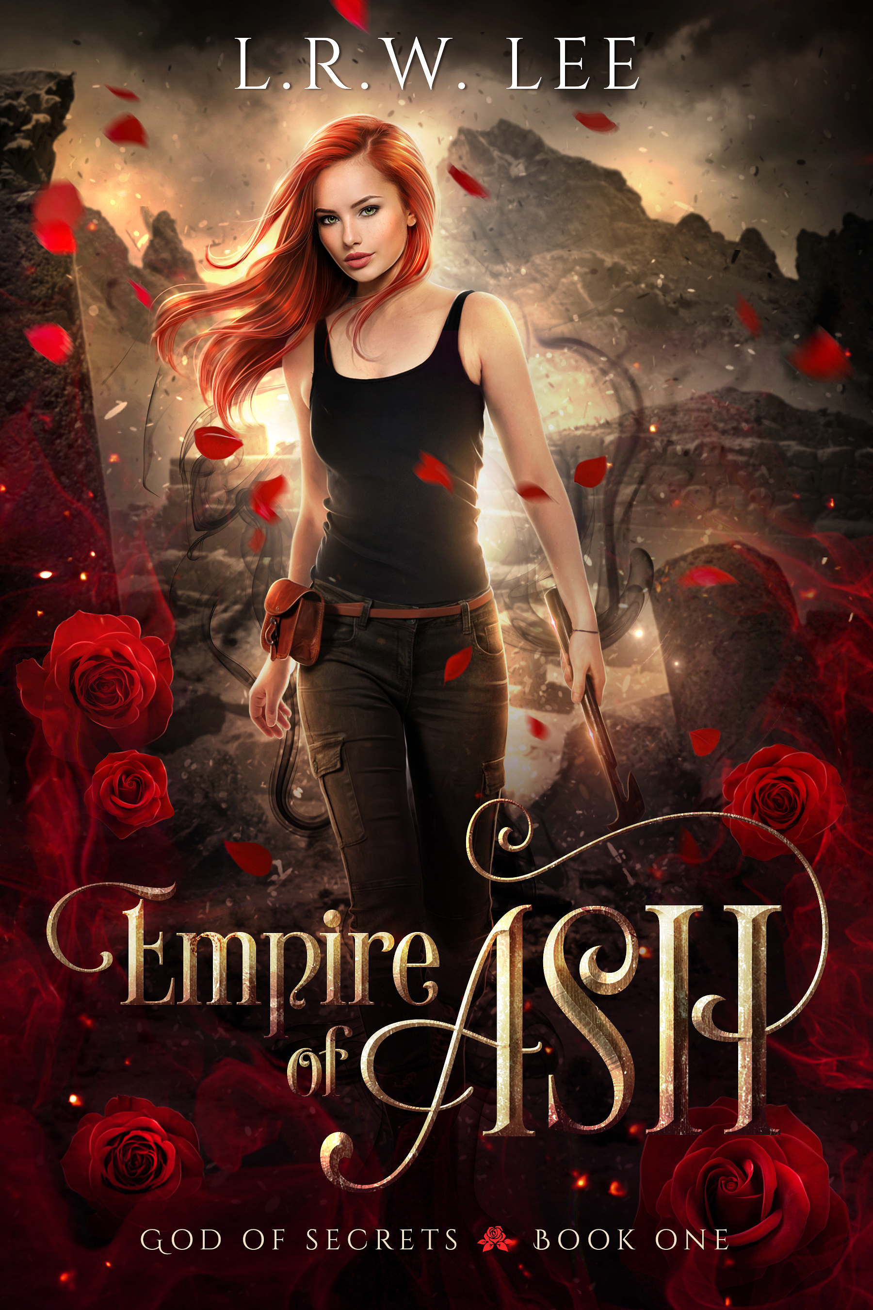 Autographed Paperback of Empire of Ash, Book One in God of Secrets series